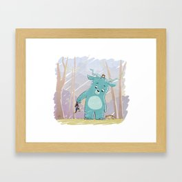 Friendly Creature Framed Art Print
