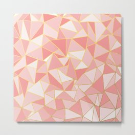 Ab Out Blush Gold Metal Print