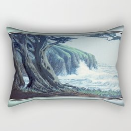 WINDSWEPT CYPRESS TREES ON THE MENDOCINO COAST CALIFORNIA Rectangular Pillow