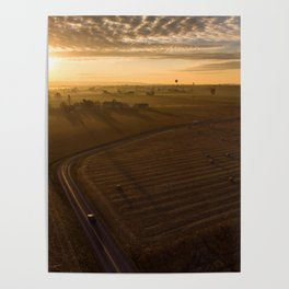 Country Sunrise over Voganville Road -1554 Poster
