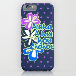 Pokii Hawaiian Hibiscus Flower and Patchwork Designs iPhone Case
