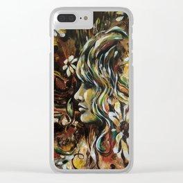 Wild Daisy Clear iPhone Case