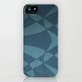 Wings and Sails - Blue and Light Blue iPhone Case