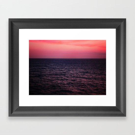 Pretty Pink Sunset Framed Art Print