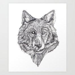 Hungry like the Wolf Art Print