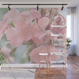 Zonal Pelargonium Neon Pink Wall Mural