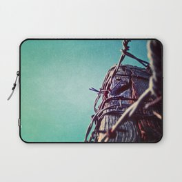 Barbed Wire Blue Laptop Sleeve