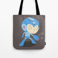 mega man Tote Bags featuring Mega Man by Rod Perich