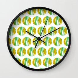 Seaweed Circle 01 Wall Clock