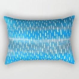 Blue Rain Rectangular Pillow