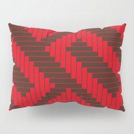 Chocolate Red Geometric Groove Pillow Sham