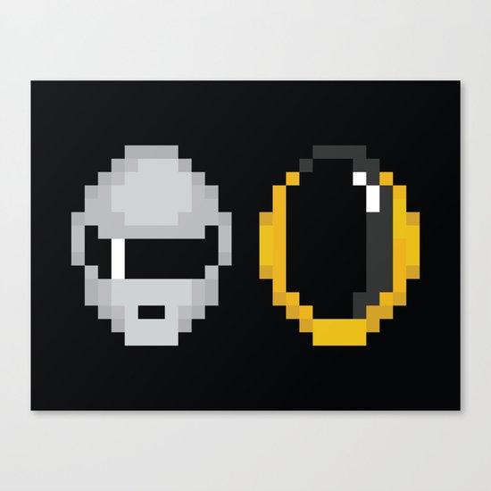 Daft Pixels Canvas Print