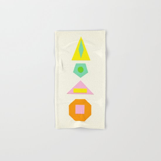 Shapes Within Shapes Hand & Bath Towel