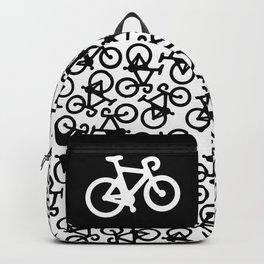 Black Bikes Pattern Backpack