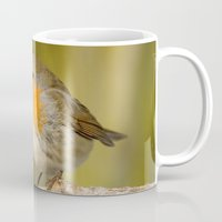 robin Mugs featuring Robin by Susann Mielke