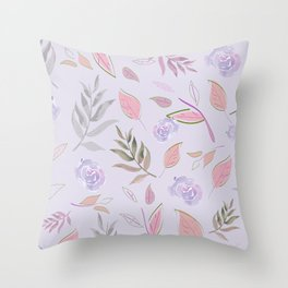 Simple and stylized flowers 11 Throw Pillow