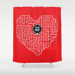 Finding Love Shower Curtain