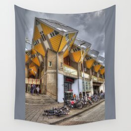 The Cube Houses In Rotterdam, Europa Wall Tapestry