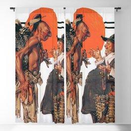12,000pixel-500dpi - Joseph Christian Leyendecker - Thanksgiving, Indians To Negotiate With Pilgrim Blackout Curtain