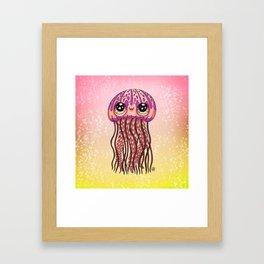 Happy Jellyfish  Framed Art Print