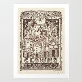 Seven Clowns #13 Art Print