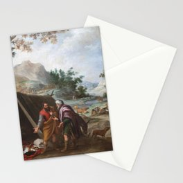 Bartolome Esteban Murillo - Laban Searching for his Stolen Household Gods Stationery Cards