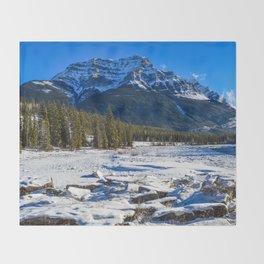 Mount Kerkeslin in Jasper National Park, Alberta Throw Blanket