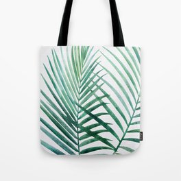 Emerald Palm Fronds Watercolor Tote Bag