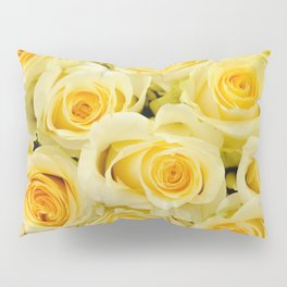soft yellow roses close up Pillow Sham