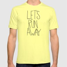 Let's Run Away: Columbia Gorge, Oregon X-LARGE Lemon Mens Fitted Tee