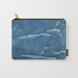 Steel blue blurred wash drawing design Carry-All Pouch