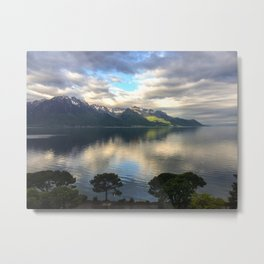Lake Geneva and Alps, Montreux, Switzerland Metal Print
