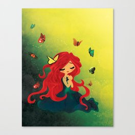 This Girl Only Sleeps with Butterflies Canvas Print