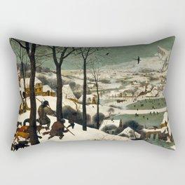 Hunters in the Snow - Pieter Bruegel the Elder Rectangular Pillow