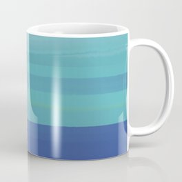 Impressions in Teal and Blue Coffee Mug
