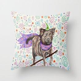 Wizard Dog Throw Pillow