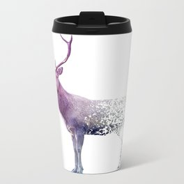 Deer Falling Apart Metal Travel Mug