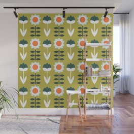 Set Sun Olive Wall Mural