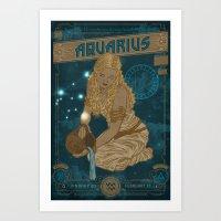 Zodiac 11: Aquarius Art Print