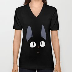 Jiji the Cat!  Unisex V-Neck