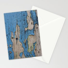 Blue Weathered Wood Stationery Cards