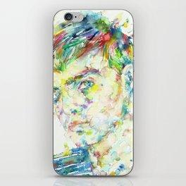 TRUMAN CAPOTE - watercolor portrait iPhone Skin