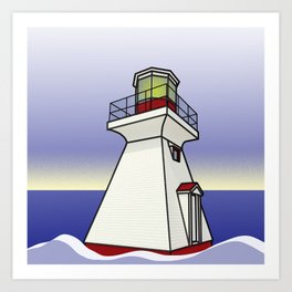Lighthouse Sea Scene Art Print