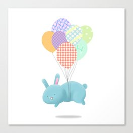 Floating Rabbit Canvas Print