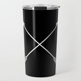 black crossed arrows Travel Mug