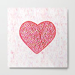Round Heart Metal Print