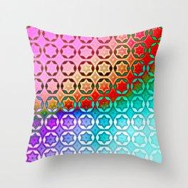 Bolt Stars (Bright) Throw Pillow
