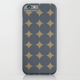 FOSSIL simple caramel and indigo design iPhone Case