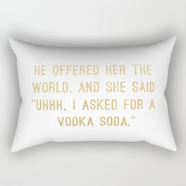 Vodka Soda Rectangular Pillow