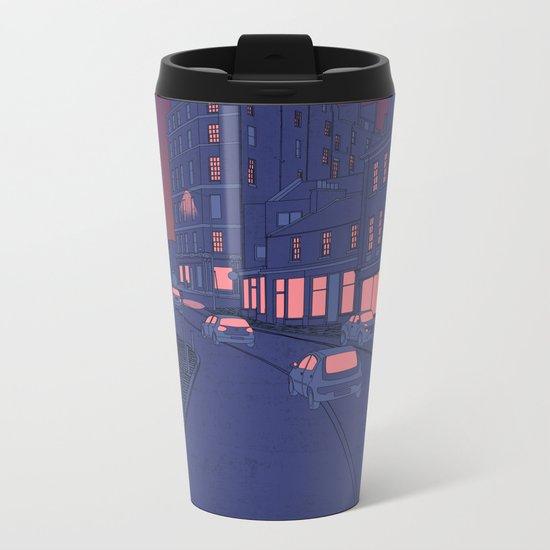 City Lights Metal Travel Mug